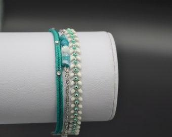 Green MULTISTRAND M143 bracelet