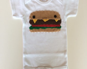 Yummy Happy Burger Baby Onesie