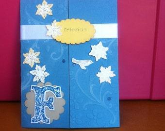 Friends tri-fold card