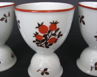 Antique Egg Cups Z.S.and C.Bavaria Set of 3 Double