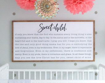 Lg. Simple Frame + Lg. Sweet Child Insert: Words by Contributor Martha Davenport