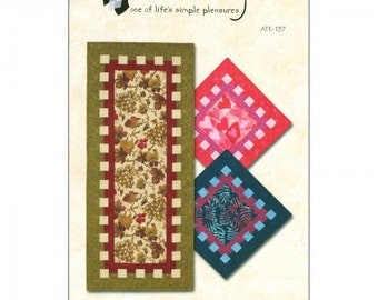 "Waffle Time Table Runner & Topper Pattern, Runner is 18"" x 42"" and Topper is 18"" x 18"""