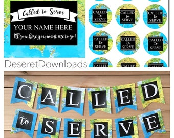 Digital Farewell or Homecoming Party Set Called to Serve Lds Missionary Instant Download Zone Conference Mission Conference Party Decoration