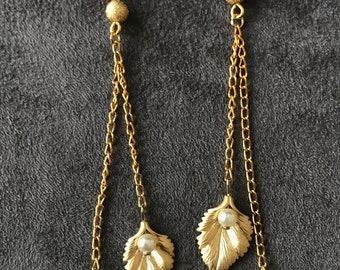 Earrings with Swarovski pearls
