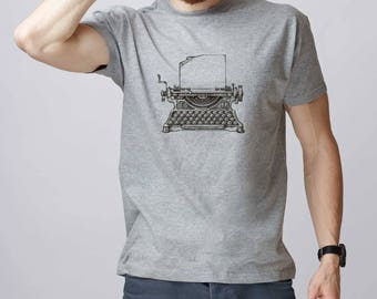 Typewriter shirt Printing machine Vintage shirt Old school t shirt Printed shirt Retro shirt Vintage t shirt Printing machine shirt GO1051