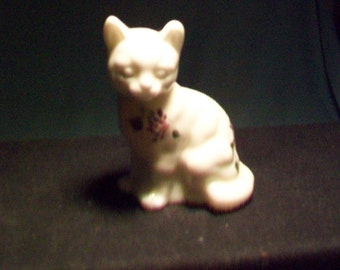 Fenton Hand Painted Cat Figurine