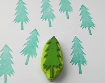 Cedar tree rubber Stamp, cedar stamp, cedar wood stamp, cedar deodara stamp, tree stamp, diy, cardmaking, christmas tree stamp, rubber stamp