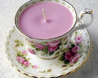 China teacup with candle