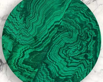 Malachite, faux Malachite no. 3 plate