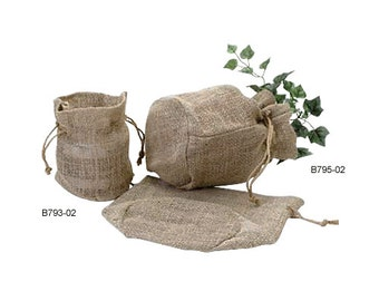 "7.5"" x 6"" x 4"" Burlap Garden Tote Bag With Round Bottom (1 pack)"