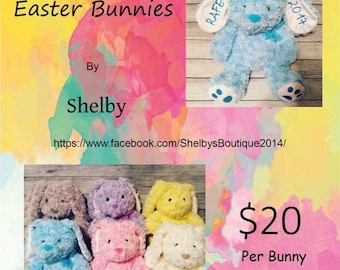 Personalized Easter bunnies.