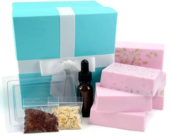 Soap Making Kit, Make Your Own Melt and Pour Soap Kit, Makes 6 Bars
