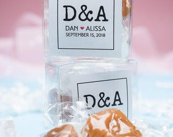 Caramels / wedding favors / party favors / cheap wedding favors / edible favors / personalized gift / bridal shower favor