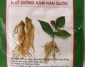 Korean gingseng seed package