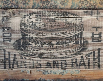 Bathroom Soap Photography, Wall Art, Aqua Decor, Cottage Chic, Rustic Country Farmhouse Decor | 'For The Hands & Bath'