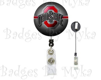 Retractable ID Badge Holder - Ohio State