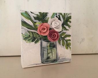 4x4 3D Floral Canvas