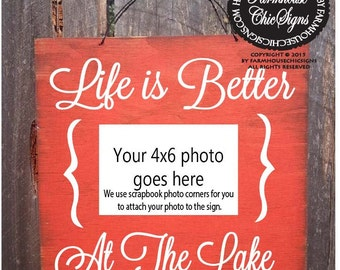 lake decor, lake picture frame, life is better at the lake, lake photo frame, lake photo, lake pictures, lake house decoration, 134