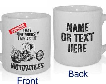 Motorbike Chopper Off-Road Road Racing Funny Motocross Personalised MX Dirt Bike Biking Mug - Personalised with a message.