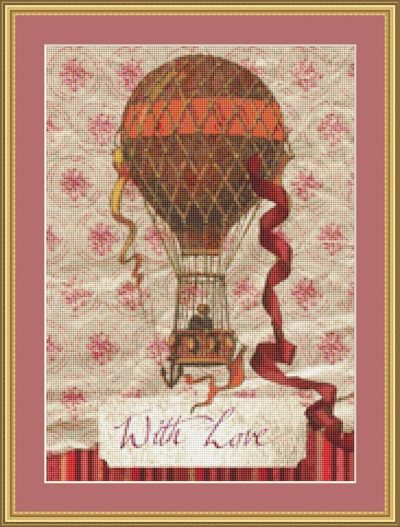 With Love Cross Stitch Pattern /Digital PDF Files /Instant downloadable
