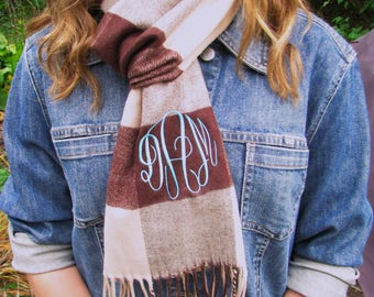 Monogram Scarf -  34 scarves to choose from - Free Shipping