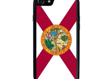 iPhone 5 5s 6 6s 6+ 6s+ SE 7 7+ iPod 5 6 Phone Case, Florida Flag, FL State Flag, USA, United States, Plus