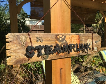 Steampunk-Reclaimed wood- fence picket