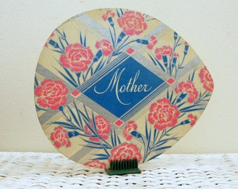 Mothers Day Card, Vintage Craft Supply, Spring Ephemera, Advertising Die Cut, Candy Box Cover