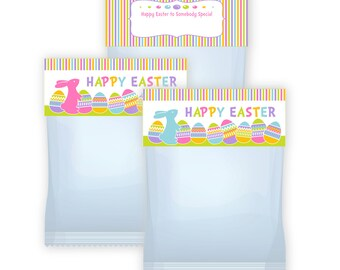 Easter Bunny Treat Bag Toppers  Digital file instant download ziplock size