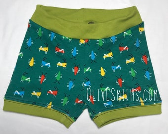 Friendly Bugs Organic Cotton Fitted Youth Shorts