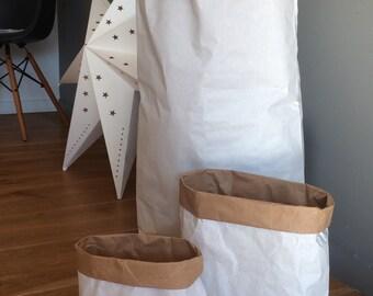 Lot de 5 Sacs Papier Kraft MOYEN FORMAT pour la déco, à customiser, à retrousser, à utiliser partout !  H50cm x L32cm x fond 14cm