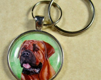 Mastiff Keychain, Mastiff Key Fob, Mastiff Key Ring, Mastiff Gifts, Mastiff Mom Gifts, Mastiff Dad Gifts, Mastiff Lover Gifts