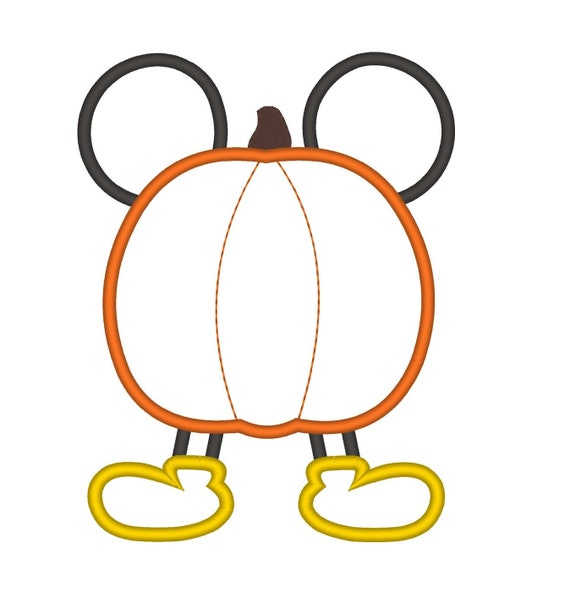 SAMPLE SALE, Mouse Ears Pumpkin Embroidered Thanksgiving Shirt - Boys Thanksgiving Shirt - Fall Shirt - Turkey Day Shirt - Mickey