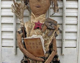 Primitive Witch Pattern, Primitive Dolls, Doll Patterns, Witch Patterns, Primitive Witches, Halloween Patterns, Primitive Halloween