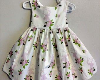 Deer dress, girl deer dress, winter onederland dress, toddler deer dress, baby deer dress, going home outfit, coming home outfit, baby dress