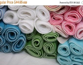Spring Sale Fleece Diaper Liners- 50 fleece diaper liners- U PICK color