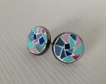 Handmade earrings, mosaic earrings, jewelry