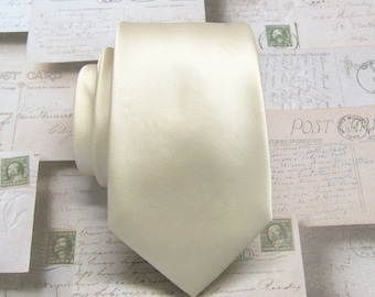 Champagne Ties Mens Neckties With *FREE* Matching Pocket Square Set