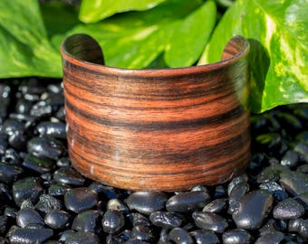 Ebony Wood Cuff Bracelet