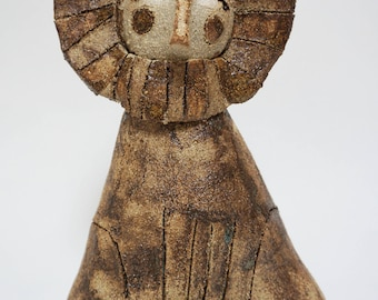 Handmade Lion Ceramic Sculpture Ornament