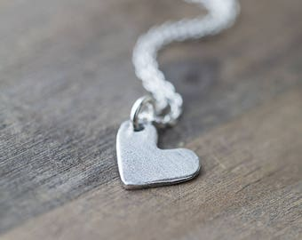 Simple Heart Necklace | Sterling Silver Necklace Jewelry Handmade | Necklaces for Women | Necklaces for Girls | Wife Gift | Gift for Mom