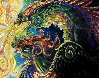 I Will Burn Your Kingdom Down- Original painting