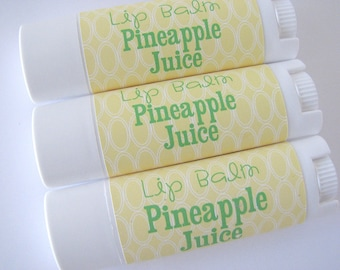 Pineapple Juice Flavor - Vegan Lip Balm - Natural Lip Butter - Bath and Beauty  -Home and Living