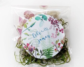 Herb Seed Favors, 40 Favor Pouches, Favor Bags, Unique Wedding Favors, Gardening, Nature, Seeds, Cilantro Seed Favor, Basil Seed Favor