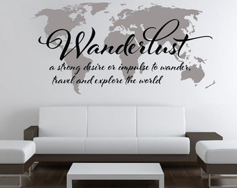 7 x 4 ft world map decal large world map vinyl wall wanderlust world map decal large world map vinyl wall sticker world map wall sticker skuwlust gumiabroncs