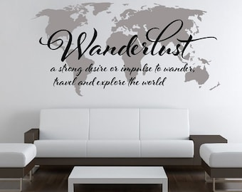 7 x 4 ft world map decal large world map vinyl wall wanderlust world map decal large world map vinyl wall sticker world map wall sticker skuwlust gumiabroncs Choice Image