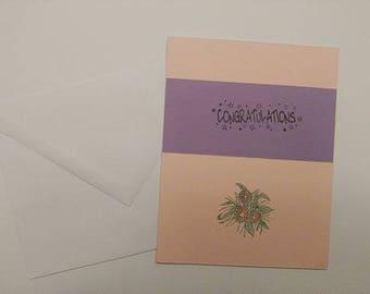 Handmade card,Greeting card, Congratulations