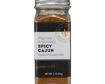 Spicy Popcorn Cajun Seasoning with Sea Salt