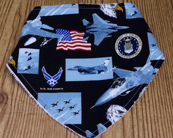 Baby Bib-Baby Airforce-themed Baby Bandana Bib-Airforce Baby Bib-Baby Shower Gift-New Baby Gift-Baby Boy Gift-Baby Boy Bib