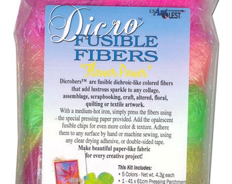 Dicro Fusible Fibers Dicrofibers 5 Pack FLOWER POWER by USArtQuest